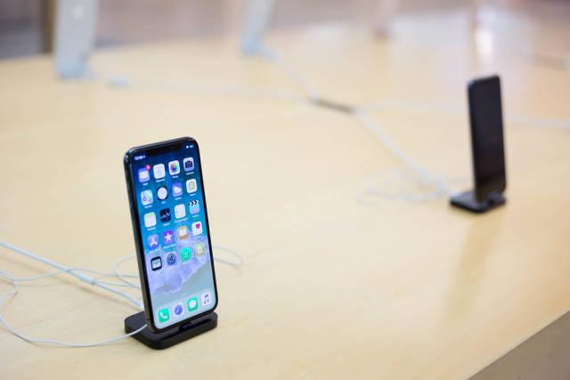 Apple iPhone X im Store