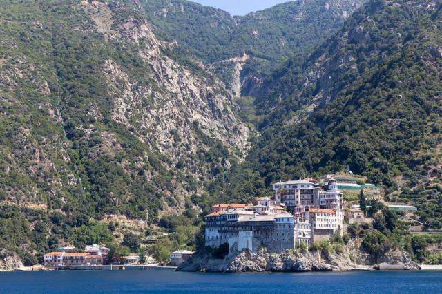 Kloster Moni Osiou Grigoriou auf Athos, Griechenland