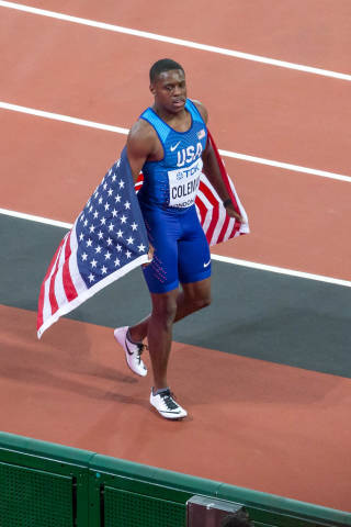 Christian Coleman with 3rd Place in Men's 100m Final in London 2017