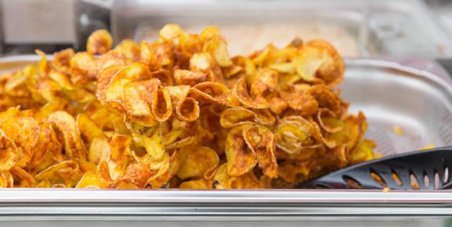 Self-made potato chips