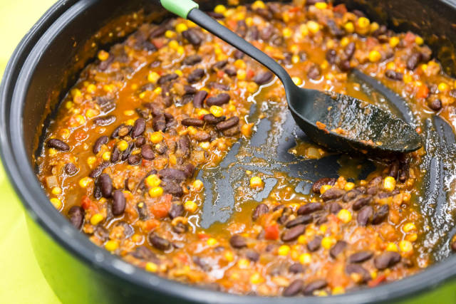 Bio Chili sin Carne mit Reis