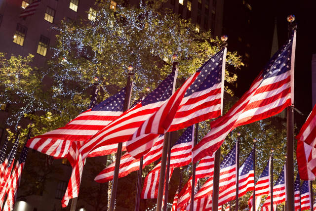 Election Night at Rockefeller Plaza