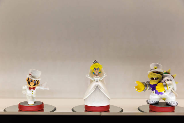 Super Mario Odyssey Mario, Peach und Bowser Amiibo - Gamescom 2017, Köln