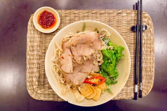 Cao Lau, the Traditional Hoi An Noodles with Pork Char-Siu