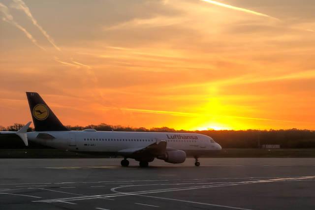 Lufthansa plane at London Heathrow airport