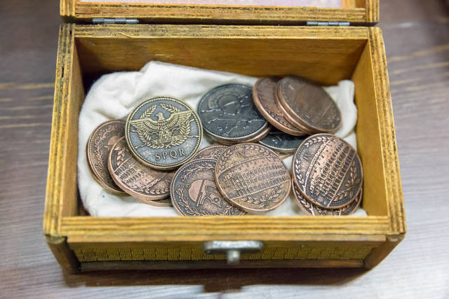 Small box with LARP coins