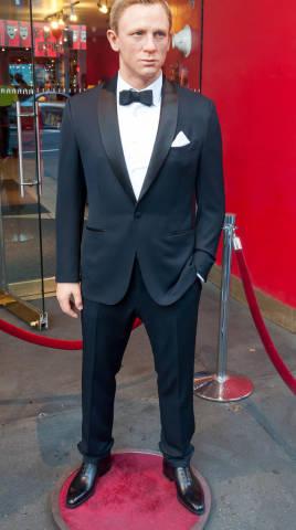 Daniel Crag (James Bond) vor Madame Tussauds