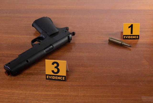 Gun at crime scene