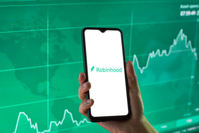 Robinhood financial investing app on a mobile device