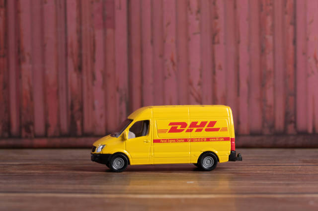 DHL sign Delivery Truck