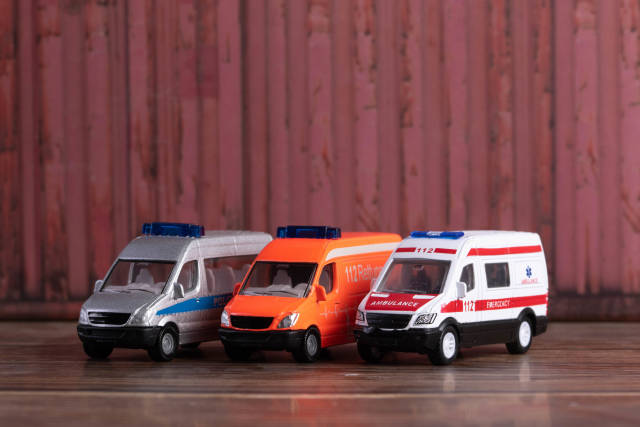Police, firefighting and ambulance van