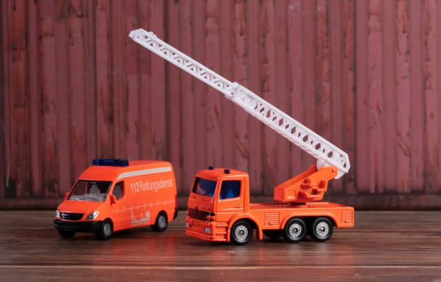 Toy car fire trucks