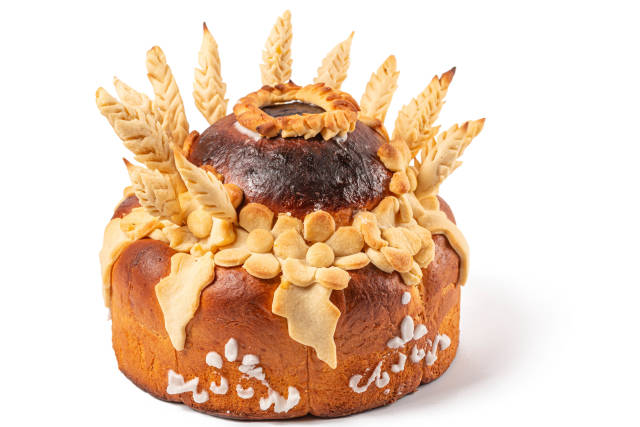 Traditional ukrainian wedding pastry loaf