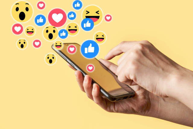 Social media interactions on mobile phone
