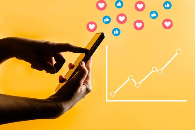 Checking social media account statistics
