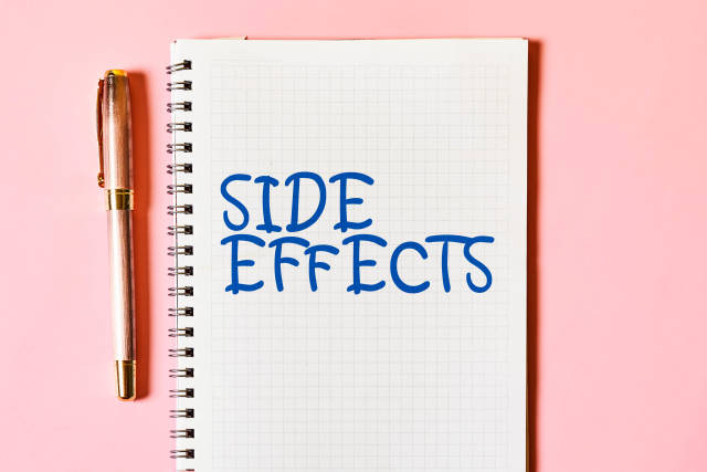 Text SIDE EFFECTS on the notepad
