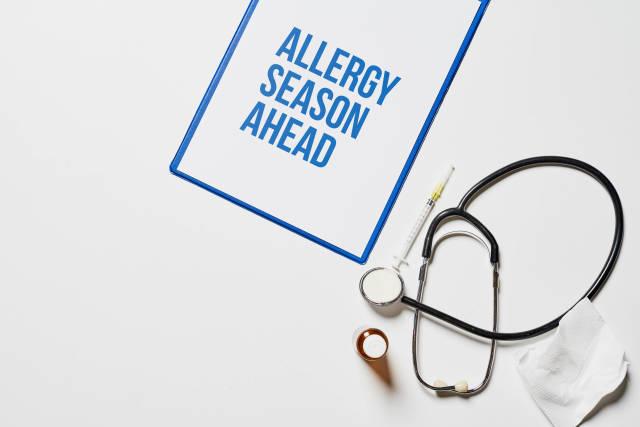 Allergy season ahead - medical concept