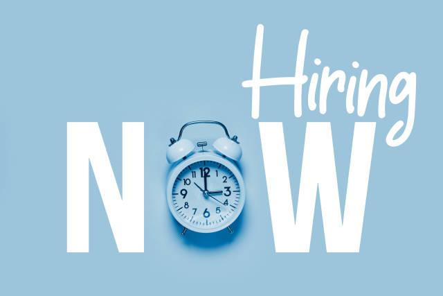 Now hiring - new job opportunities