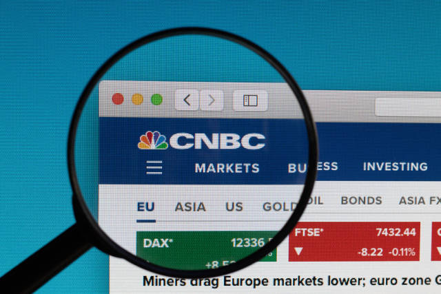 CNBC logo under magnifying glass