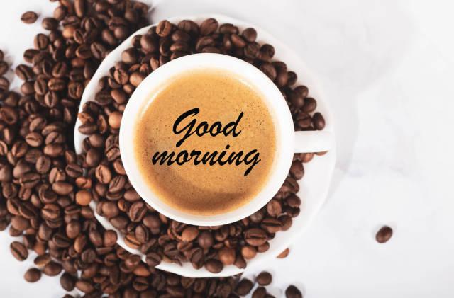 Good morning coffee concept