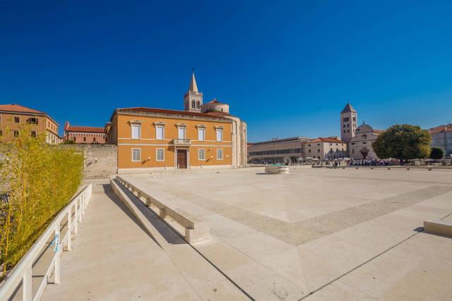 Ancient Roman forum in Zadar, Croatia