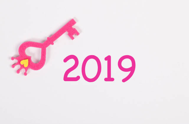 Key with 2019 text