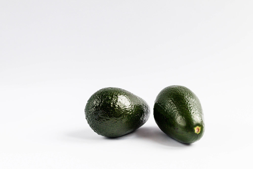 Group of fresh avocados