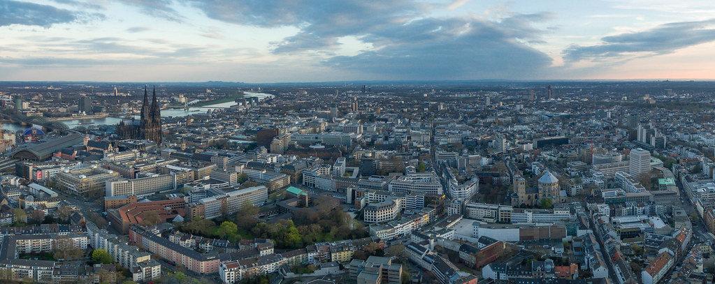 Luftbild Kölner Dom