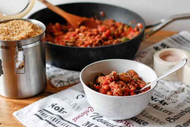 Mexican Rice wIth bean, pepper and Mushroom