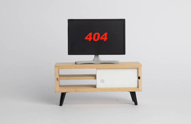 Error 404 on screen