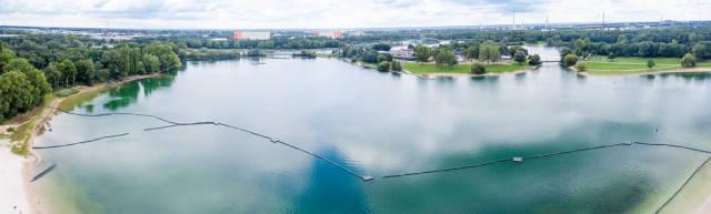 Luftbild: Naturfreibad Fühlinger See