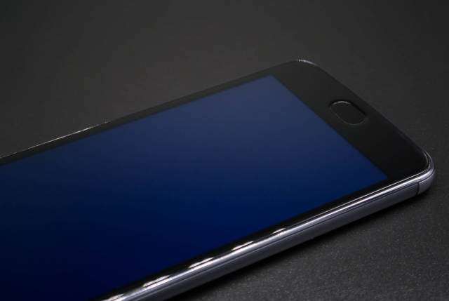 Phone screen emitting harmful blue light