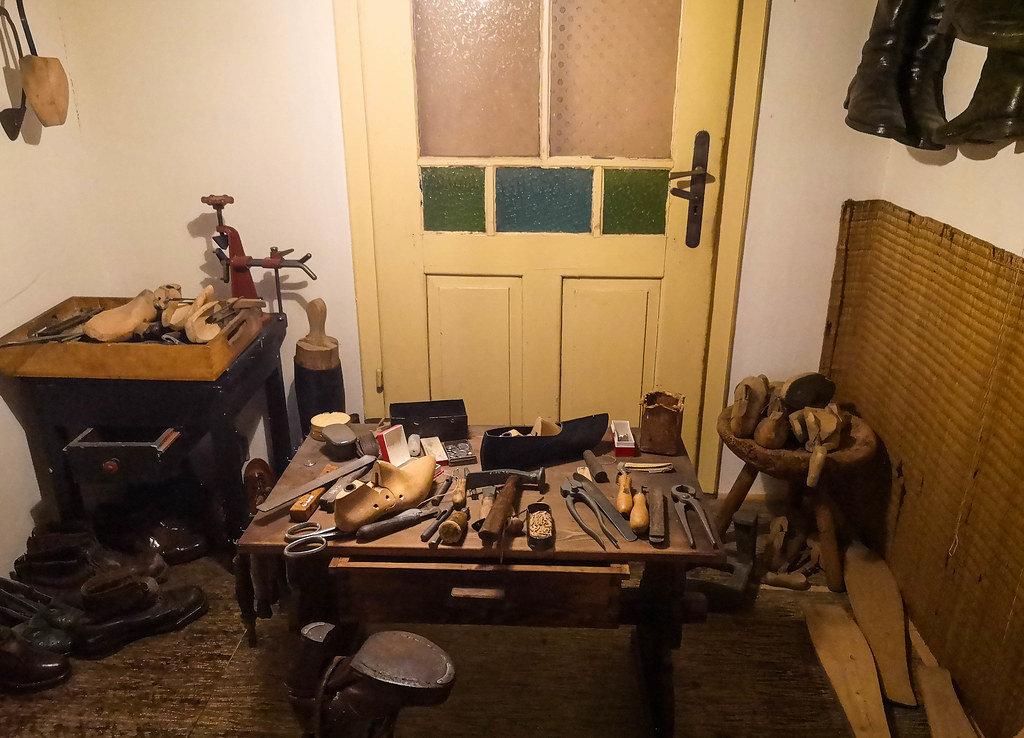 Shoemakers work desk