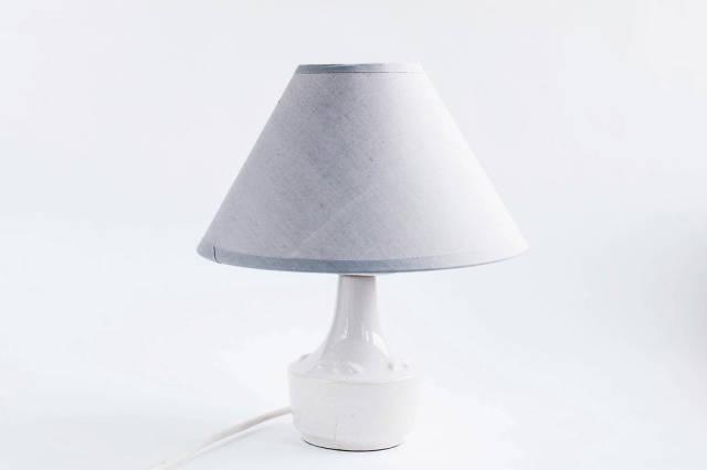 Graue Lampe