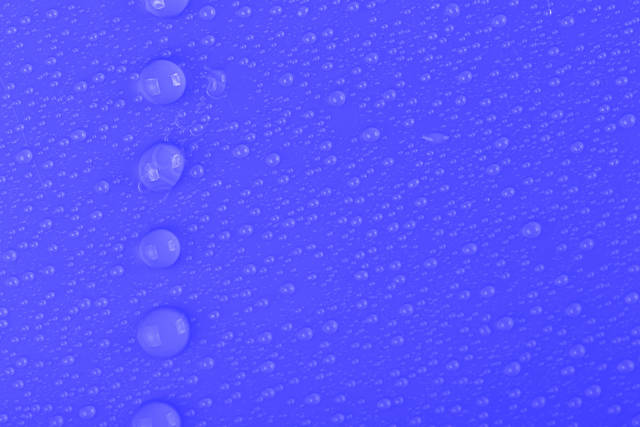 Blue background with water drops