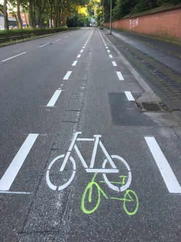 Radweg in Köln