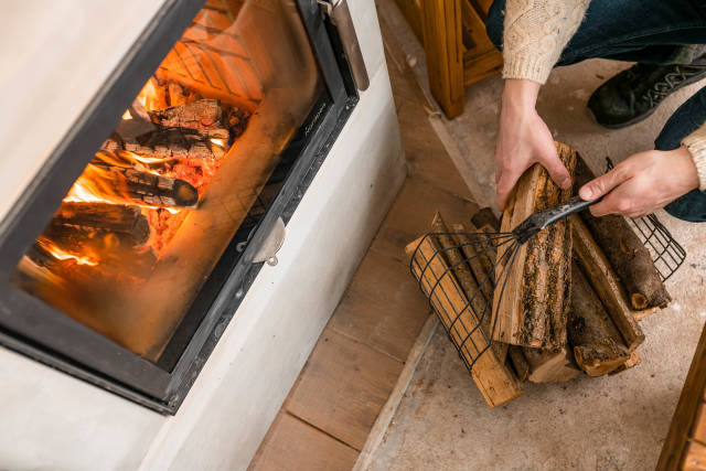 Setting Fire With Wood Indoors