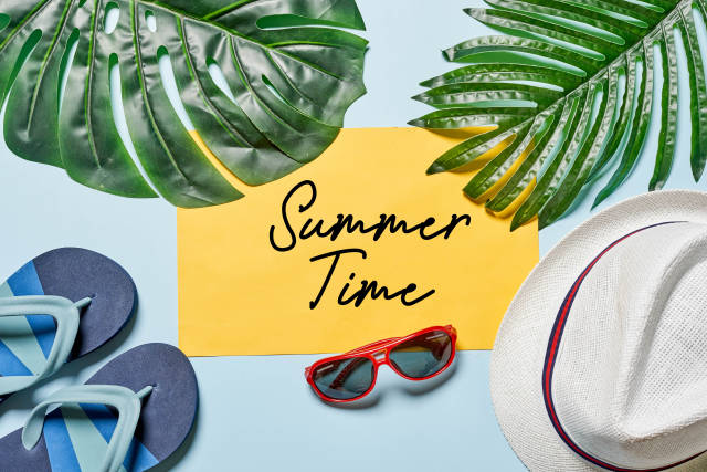 Summer time concept with different items