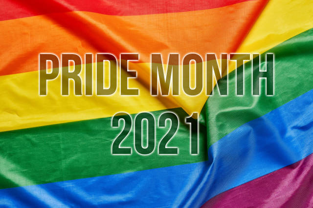 Pride month 2021 on the rainbow flag