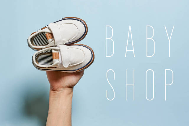Baby shop - choosing new shoes for baby