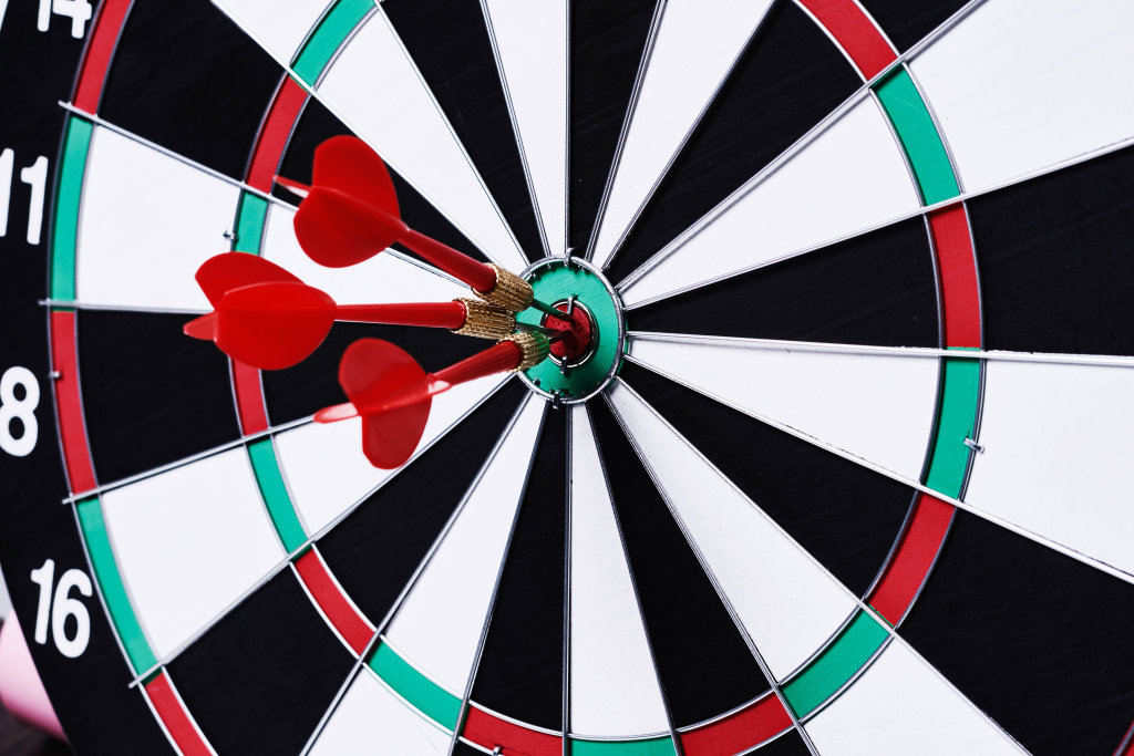 Business target or goal success and winner concept