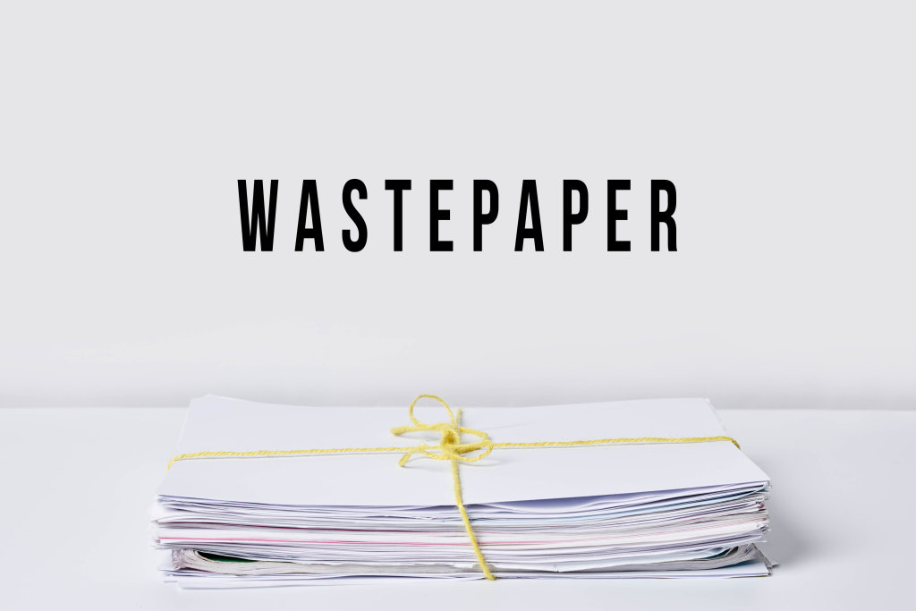 A stack of wastepaper