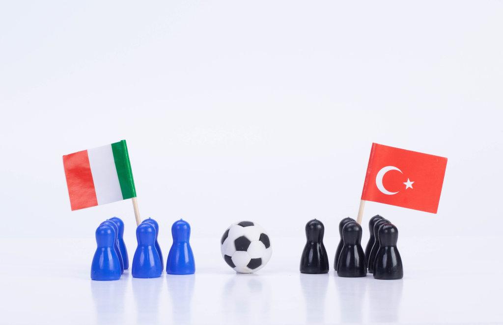 Football match Italy Vs. Turkey