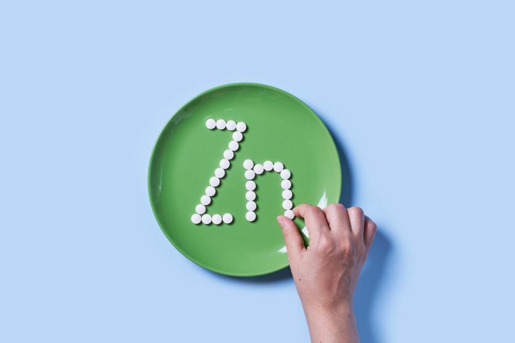 Vitamin Zink symbol made with medicine pills