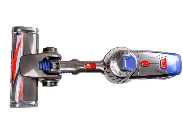 Modern wireless vacuum cleaner, top view