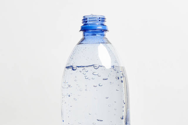 Close-up shot of a bottle of fresh water