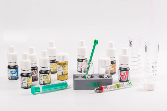 Set of chemical tests for water with reagents