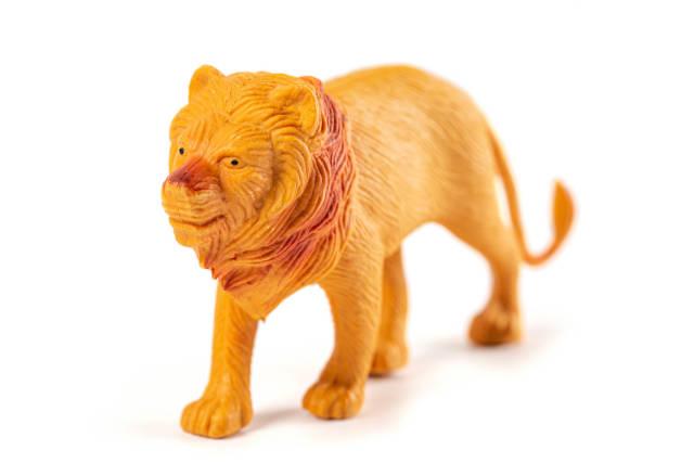 Toy figurine of a predatory animal lion