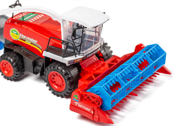Toy combine on white background