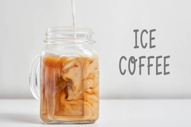 Sweet summer drink - ice coffee